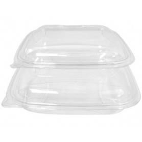 Boîte salade Crudipack cristal transparente - Saladier pour entrées et salades  à emporter