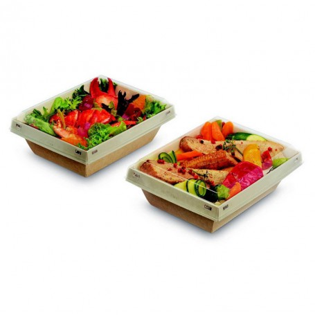 Barquette Luxifood plats froids et chaudes - Emballage snacking vente a emporter