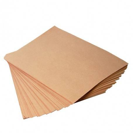 Papier kraft brun vergé en feuilles prédécoupées - papier alimentaire d'emballage pour produits secs