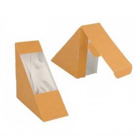 coque à sandwich triangle en kraft - coque sandwich vente à emporter et snack eco responsable