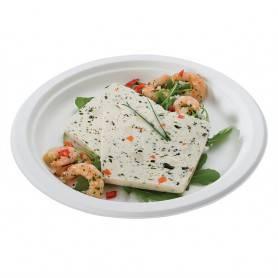 Assiette en fibre de canne - Assiette Carton Jetable - Vaisselle Jetable Fibre de canne - Assiette jetable écologique