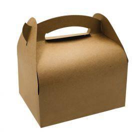 Boîte carton brun à poignées - boite boulangerie à poignées