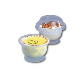 Coupe à dessert chaud froid - Coupe dessert Vente à Emporter - Coupe dessert avec couvercle