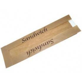Sac sandwich papier kraft fenetre - sac écologique -