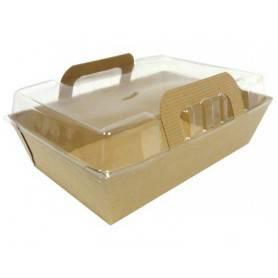Panier salade carton + couvercle - Boîte Salade avec couvercle en papier kraft - Boîte Salade Vente-à-emporter