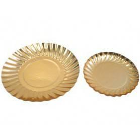 Assiette ronde or - Assiette présentation en Or - Vaisselle jetable Or
