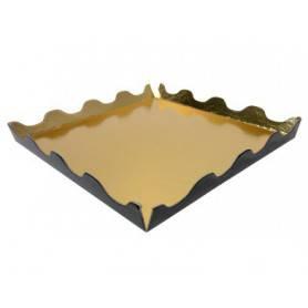 Carré ondine or/noir petites patisseries, chocolats et confiseries