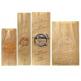 Sac à pain tranché en kraft brun - Emballage écologique boulangerie