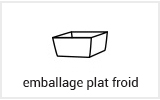 Emballage alimentaire usage froid plat froid