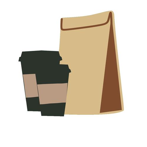 Emballage écologique - sac papier kraft brun pour vente-à-emporter