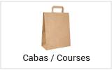 Sac shopping cabas course kraft réutilisable vente à emporter