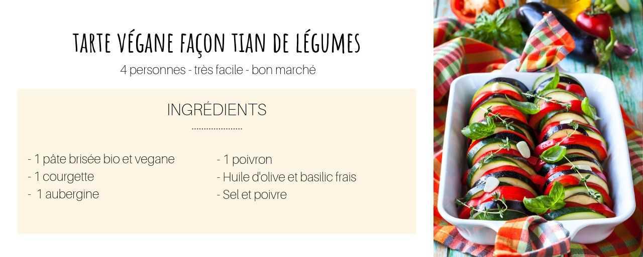 tarte végane tian de légumes - recette bio et healthy